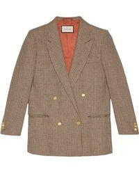 "Gucci - Linen Jacket With ""spiritismo"" Appliqué - Lyst"