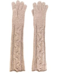 Loro Piana - Cable Knit Long Gloves - Lyst