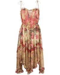 Zimmermann - Float Midi Dress - Lyst