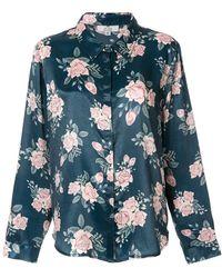 5098e131e3 Ralph Lauren Blue Label Striped Shirt in Pink - Lyst