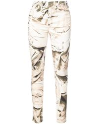 Nicole Miller - Printed Skinny Trousers - Lyst