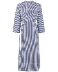 JOSEPH - Striped Wrap Dress - Lyst