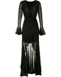 6bb0d11eb Versus Open-back Jersey Maxi Dress in Black - Lyst