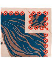 Sonia Rykiel - Face Print Square Scarf - Lyst