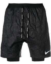 Nike - Crinkled Running Shorts - Lyst