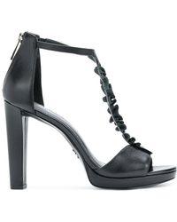 MICHAEL Michael Kors - Bella Ruffled T-bar Sandals - Lyst