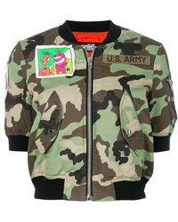 Jeremy Scott - Camouflage Cropped Bomber Jacket - Lyst