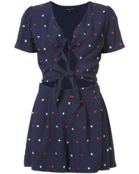 Morgan Lane - Rina Star Embroidery Romper - Lyst