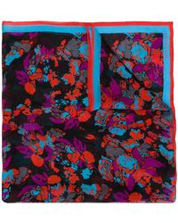 Givenchy - Floral Colour-block Scarf - Lyst