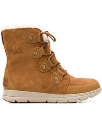 Sorel - Lined Lace-up Ankle Boots - Lyst
