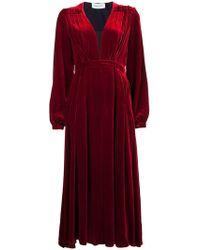 Raquel Diniz - Clara Velvet Dress - Lyst