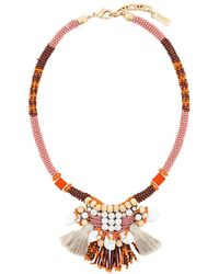 Rada' - Bead And Tassle Necklace - Lyst