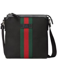Gucci - Techno Canvas Messenger With Web - Lyst
