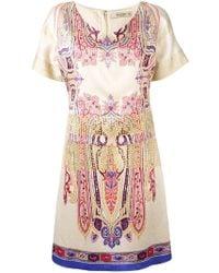 Etro - Abstract Print T-shirt Dress - Lyst