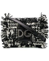 Dolce & Gabbana - Dg Fringed Tweed Shoulder Bag - Lyst