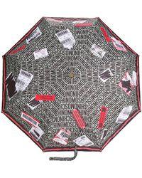 Moschino - Delivery Label Logo Umbrella - Lyst