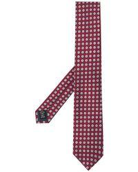 Ermenegildo Zegna - Floral Embroidered Tie - Lyst