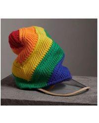 Burberry - Rainbow Wool Cashmere Beanie - Lyst