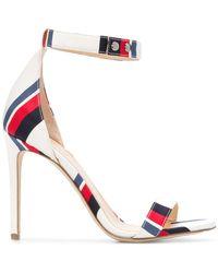 Monse - Striped Open-toe Sandals - Lyst