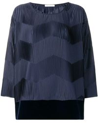 Stefano Mortari - Micro-pleated Blouse - Lyst
