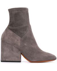 Santoni - Chunky Heel Ankle Boots - Lyst
