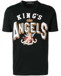 "Dolce & Gabbana - T-Shirt mit ""King's Angels""-Print - Lyst"