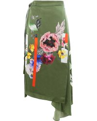 Preen By Thornton Bregazzi - Sketchbook Floral Print Skirt - Lyst