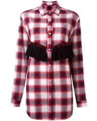 Au Jour Le Jour - Checked Tassel Detail Shirt - Lyst