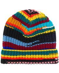 Missoni - Striped Rib Knit Beanie - Lyst