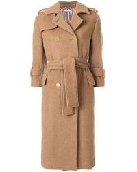 Thom Browne - Camel Hair Double-breasted Trench Coat - Lyst