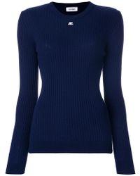 Courreges | Slim-fit Ribbed Sweatshirt | Lyst
