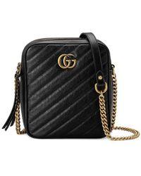 e4a54ce50b86ed Lyst - Gucci Gg Marmont Cross-body Bag in Green
