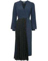 Dalood Combined Dress - Blue