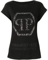 Philipp Plein - Logo Embellished Xyz T-shirt - Lyst