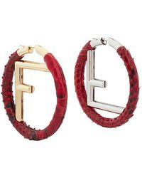Fendi - F Is Earrings F Is Earrings - Lyst