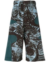 Homme Plissé Issey Miyake - Ribbed Drop Crotch Trousers - Lyst