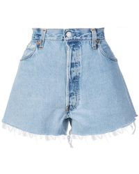 RE/DONE - Distressed Shorts - Lyst