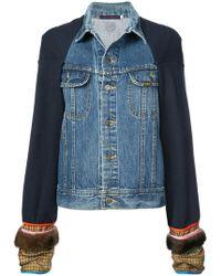 Harvey Faircloth - Panelled Denim Jacket - Lyst