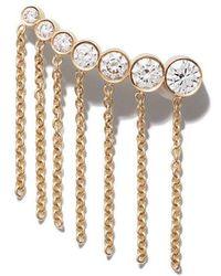 Sophie Bille Brahe - 18kt Yellow Gold X Sacai Croissant Diamond Earring - Lyst