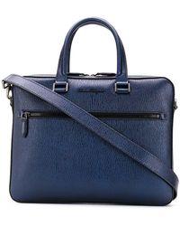 Ferragamo - Textured Leather Laptop Case - Lyst