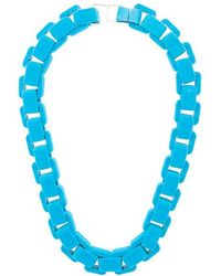 Wanda Nylon - Flocked Chain Choker Necklace - Lyst