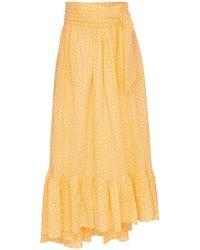 Lisa Marie Fernandez - Nicole Floral Tie Waist Skirt - Lyst