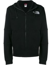 The North Face - Zipped Logo Print Hoodie - Lyst