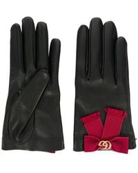 Gucci - Bow-embellished Gloves - Lyst