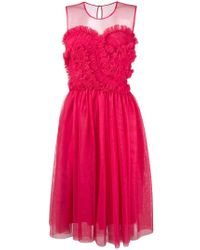 P.A.R.O.S.H. - Frilled Detail Dress - Lyst