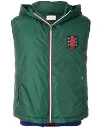 Gucci - Snake Badge Hooded Gilet - Lyst