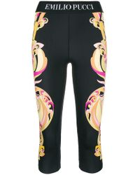Emilio Pucci - Printed Cropped leggings - Lyst