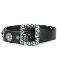 Prada - All Designer Products - Embellished Western Belt - Lyst
