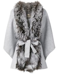 N.Peal Cashmere | Fox Fur Front Cape | Lyst