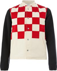 Lanvin - Checked Button Jacket - Lyst